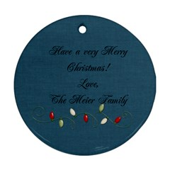 I Believe Ornament 4 By Martha Meier   Round Ornament (two Sides)   Obwz91c4lxui   Www Artscow Com Back