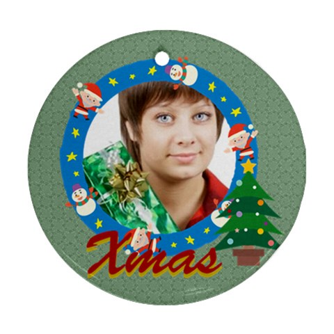 Xmas By May   Ornament (round)   Vt0wyglva0y2   Www Artscow Com Front