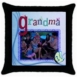 Grandma s throw pillow - Throw Pillow Case (Black)
