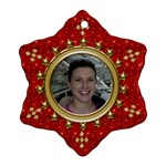 Red Sparkle Snowflake Ornament (2 Sided) - Snowflake Ornament (Two Sides)