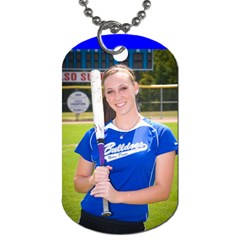 Nd Softball By Gina Elfrink   Dog Tag (two Sides)   25crqy6uhibl   Www Artscow Com Back