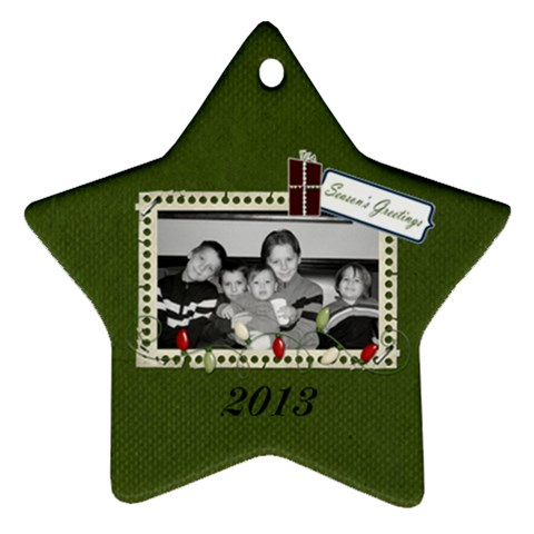 I Believe Star Ornament 1 By Martha Meier   Ornament (star)   B5kahzq28hqi   Www Artscow Com Front