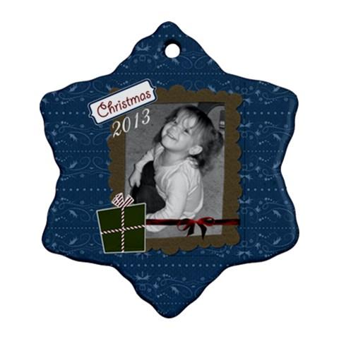 I Believe Snowflake 1 By Martha Meier   Ornament (snowflake)   Sx29q43udzei   Www Artscow Com Front