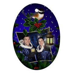 Chrismas Cheer Oval Ornament (2 Sided) By Deborah   Oval Ornament (two Sides)   Tmtwjp653aiq   Www Artscow Com Front