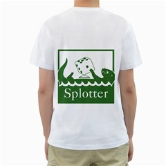 Splotter T Shirt By Kevin Mccurdy   Men s T Shirt (white) (two Sided)   P7x121l7vn46   Www Artscow Com Back