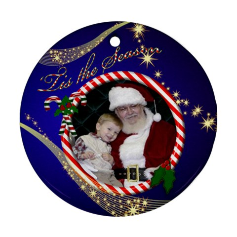 The Season Round Ornament By Deborah   Ornament (round)   Ueddtaozrzm7   Www Artscow Com Front