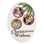 Christmas Wishes Oval Ornament (2 Sided) - Oval Ornament (Two Sides)