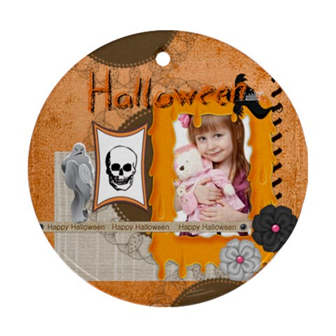 Halloween By Jo Jo   Ornament (round)   To38caa7ethj   Www Artscow Com Front
