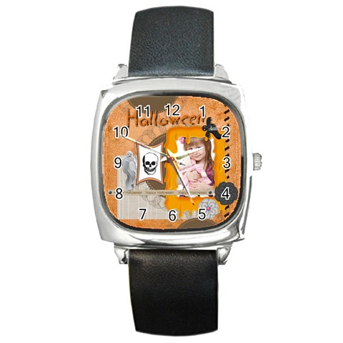 Halloween By Jo Jo   Square Metal Watch   Tjs7i5g7febl   Www Artscow Com Front