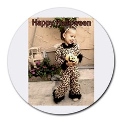 Trick Or Treat Baby 8  Mouse Pad (round) by tammystotesandtreasures