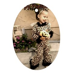 Trick Or Treat Baby Ceramic Ornament (oval) by tammystotesandtreasures