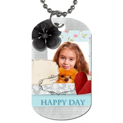 Happy Time By Joely   Dog Tag (two Sides)   O74ctjbyvcwh   Www Artscow Com Front