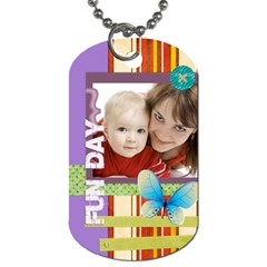 Fly Day By Joely   Dog Tag (two Sides)   Jfmn4opwk8cq   Www Artscow Com Front