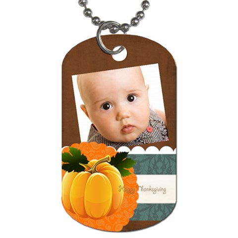 Thanks Giving By Joely   Dog Tag (one Side)   Pamma92o9r9t   Www Artscow Com Front