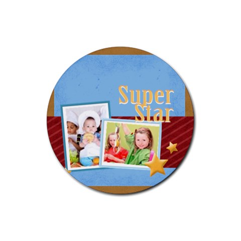 Superstar By Mac Book   Rubber Coaster (round)   D4x6v7iqpyqm   Www Artscow Com Front