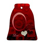 Love Red Bell Ornament - Ornament (Bell)