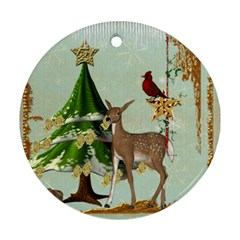 All Is Calm Double Sided Ornament By Catvinnat   Round Ornament (two Sides)   Dfuomrjxyxe1   Www Artscow Com Back