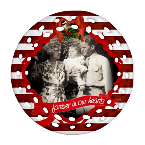 Dave Anne Joanne By Pat Kirby   Ornament (round Filigree)   Uafmdk9bzeay   Www Artscow Com Front