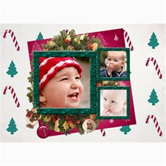 Simply Christmas Vol1   5x7 Photo Cards  By Picklestar Scraps   5  X 7  Photo Cards   S6ufcbmj3nkg   Www Artscow Com 7 x5 Photo Card - 5