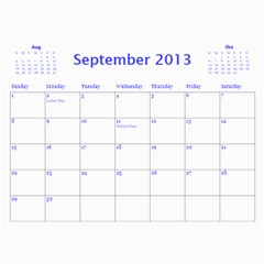 Calendar 2013 By Janet Andreasen   Wall Calendar 11  X 8 5  (12 Months)   2fpap4dukwft   Www Artscow Com Sep 2013