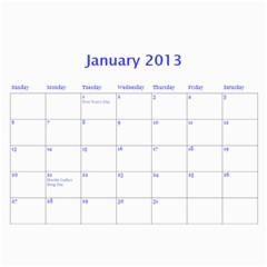 Calendar 2013 By Janet Andreasen   Wall Calendar 11  X 8 5  (12 Months)   2fpap4dukwft   Www Artscow Com Jan 2013
