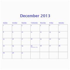 Calendar 2013 By Janet Andreasen   Wall Calendar 11  X 8 5  (12 Months)   2fpap4dukwft   Www Artscow Com Dec 2013