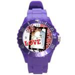 love - Round Plastic Sport Watch (L)