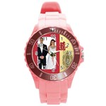 chinese wedding - Round Plastic Sport Watch (L)