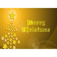 Gold Christmas Card 3d By Kim Blair   Circle 3d Greeting Card (7x5)   L5vm0ghrdolb   Www Artscow Com Front