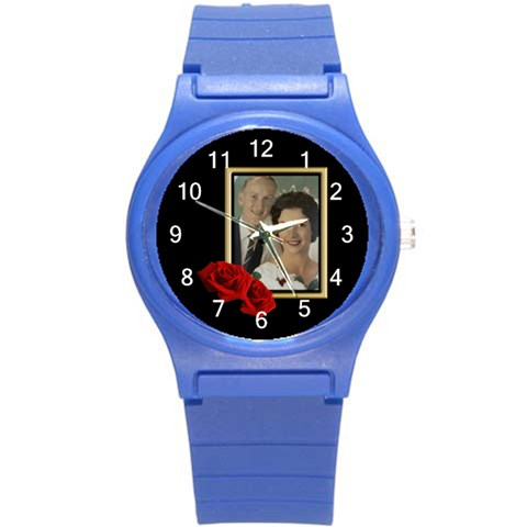 Our Celebration Round Plastic Sport Watch Small By Deborah   Round Plastic Sport Watch (s)   Gvplqeg19fq0   Www Artscow Com Front