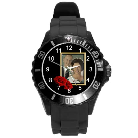 Our Celebration Round Plastic Sport Watch Large By Deborah   Round Plastic Sport Watch (l)   Zsb252mwp6j1   Www Artscow Com Front