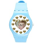Hearts Round Plastic Sport Watch Medium - Round Plastic Sport Watch (M)