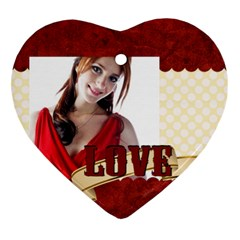 Love By Wood Johnson   Heart Ornament (two Sides)   Vkxf2phv9882   Www Artscow Com Back