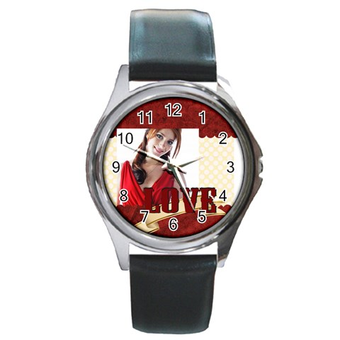 Love By Wood Johnson   Round Metal Watch   9nd2ga1w0u3v   Www Artscow Com Front