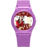 love - Round Plastic Sport Watch (S)