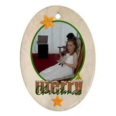 Santa Merry Christmas 2012 Oval Double Side Ornament By Catvinnat   Oval Ornament (two Sides)   Knl929lpwx3d   Www Artscow Com Back