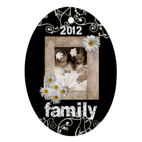 Family 2012 Oval Ornament By Catvinnat   Ornament (oval)   Pvk8q8g9ouww   Www Artscow Com Front