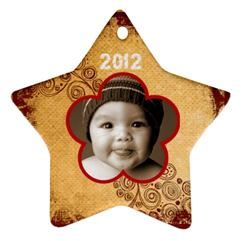 Scroll Upon A Star 2012 Star Ornament By Catvinnat   Ornament (star)   Ayea06ahe9tn   Www Artscow Com Front