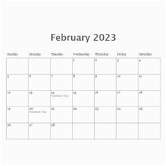 Simple Silver 2015 Calendar By Catvinnat   Wall Calendar 11  X 8 5  (12 Months)   Yt81ho7r1lfi   Www Artscow Com Feb 2015