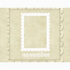 Damask Wedding 2015 Calendar  By Catvinnat   Wall Calendar 11  X 8 5  (12 Months)   5vvt54vvdo8m   Www Artscow Com Month
