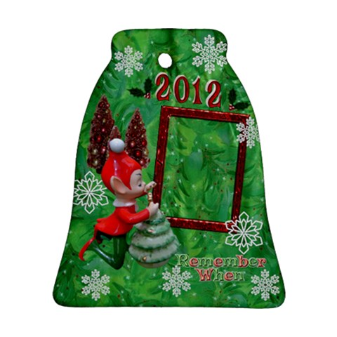 Elf Remember When 2012 Bell Ornament By Ellan   Ornament (bell)   D0g1sr18dto5   Www Artscow Com Front