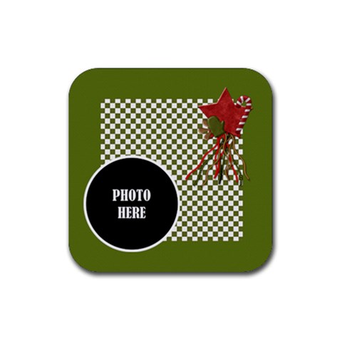 Christmas Cluster Coaster 4 Pack 1 By Lisa Minor   Rubber Square Coaster (4 Pack)   Eapl5ifj4pxp   Www Artscow Com Front