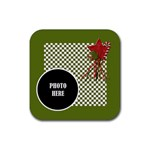 Christmas Cluster Coaster 4 pack 1 - Rubber Square Coaster (4 pack)
