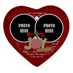 Christmas Clusters Heart Ornament 1 - Ornament (Heart)