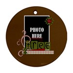 Christmas Clusters Round Ornament 1 - Ornament (Round)
