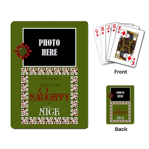 Christmas Clusters Playing Cards 3 By Lisa Minor   Playing Cards Single Design   Ghkjyfccyzst   Www Artscow Com Back