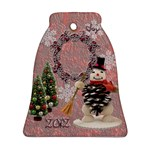 Vintage Snowman Bell Ornament - Ornament (Bell)