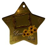 Gold Love Sunflower star ornament - Ornament (Star)