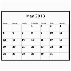 Pops Calendar By Deborah   Wall Calendar 11  X 8 5  (12 Months)   0hxzmfpncggs   Www Artscow Com May 2013