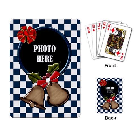 Rockin Around The Christmas Tree Playing Cards By Lisa Minor   Playing Cards Single Design   A84w1mm32cqp   Www Artscow Com Back